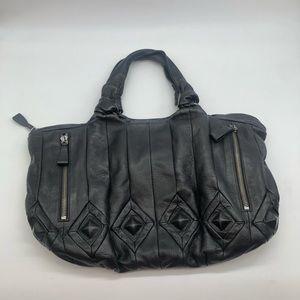 Elliot Lucca black leather satchel bag